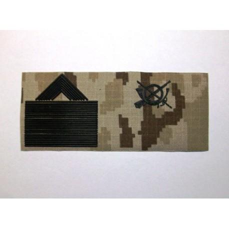 Parche de pecho árido pixelado Ejército España