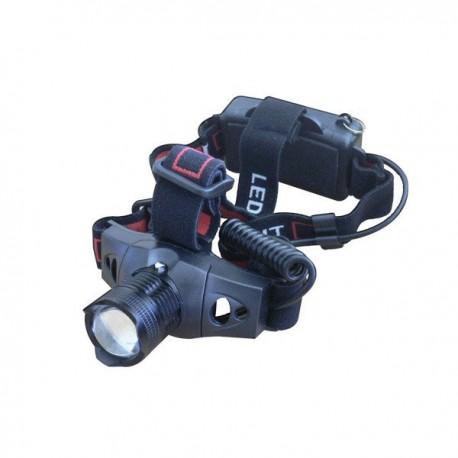 Frontal LED CREE Q5 con foco regulable, 160 lumens, pilas 3 AAA no incluidas, 3 posiciones, Blister