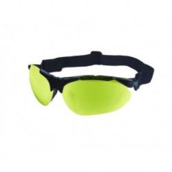 Gafas de tiro naranjas y amarillas, con montura interior para lentes de vista