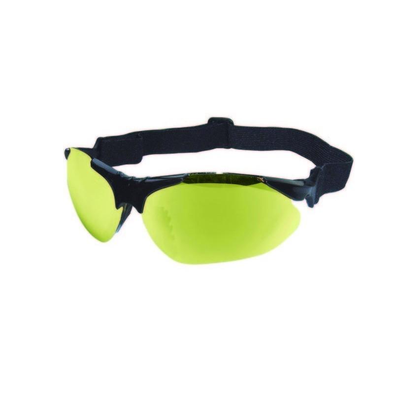 Gafas de tiro naranjas y amarillas, con montura interior para lentes ...