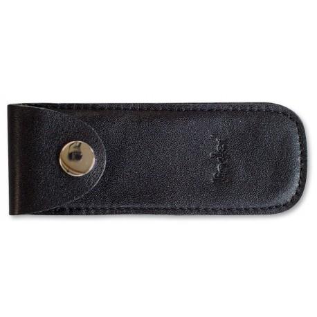 Pocket kn. pouch,black leather