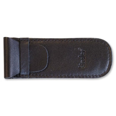 Pocket kn. pouch,black leather
