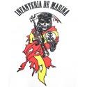 Camiseta técnica Infantería Marina calavera