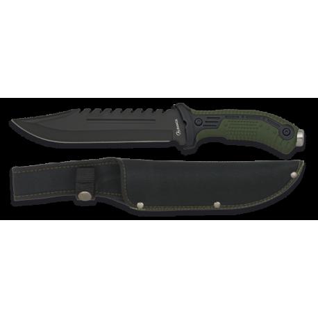 cuchillo albainox verde. Hoja: 19.5
