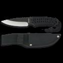 cuchillo albainox encordado negro. h:9CM