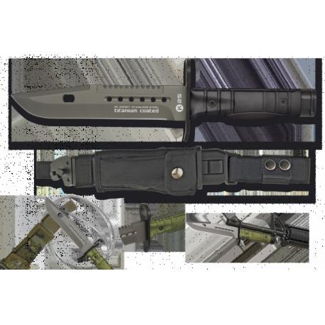 cuchillo RUI/K25 negro. Bayoneta. 17.8