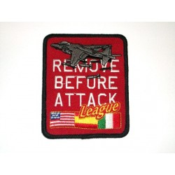 Parche bordado REMOVE BEFORE ATTACK