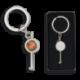 llave grilletes con chapa y llavero