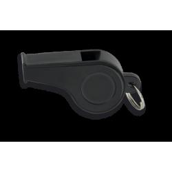 Silbato plástico NEGRO, con anilla. 5 cm