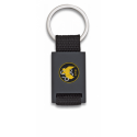 Llavero rectangulo negro + cinta negra GEO