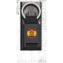Llavero rectangulo negro + cinta negra ESPAÑA ESCUDO