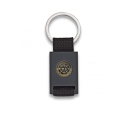 Llavero rectangulo negro + cinta negra SWAT