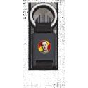 Llavero rectangulo negro + cinta negra FRANCO