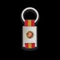 Llavero rectangulo plata + cinta bandera MARINES