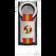 Llavero rectangulo plata + cinta bandera FRANCO