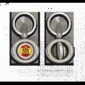 Llavero oval giratorio con chapa ESPAÑA ESCUDO