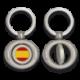 Llavero oval giratorio con chapa ESPAÑA