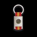 Llavero rectangulo plata + cinta bandera SWAT