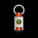 Llavero rectangulo plata + cinta bandera GUARDIA CIVIL