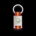 Llavero rectangulo plata + cinta bandera MOE