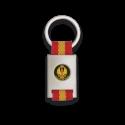 Llavero rectangulo plata + cinta bandera EJERCITO DE TIERRA
