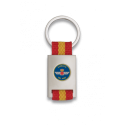 Llavero rectangulo plata + cinta bandera EJERCITO DEL AIRE