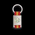 Llavero rectangulo plata + cinta bandera LEGION