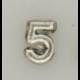"""Numeral pasador diario """" 5 PLATA """""""
