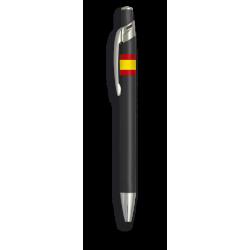 Boligrafo aluminio color negro. B. Esp.