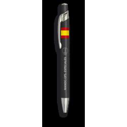 Boligrafo aluminio color negro. O. Espe.