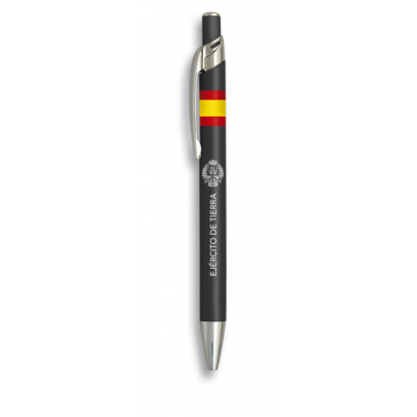 Boligrafo aluminio color negro. E.Tierra
