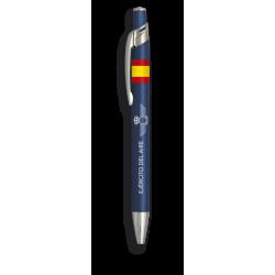 Boligrafo alumino color azul. Ej. Aire