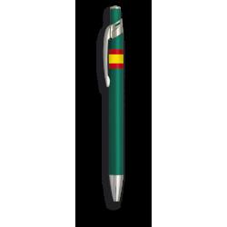Boligrafo aluminio color verde. B. ESP