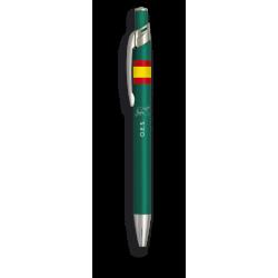 Boligrafo aluminio color verde. OES