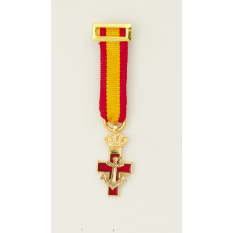 Medalla Mini MERITO NAVAL DSTIVO ROJO