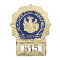 Chapas cartera US NEW YORK DETECTIVE