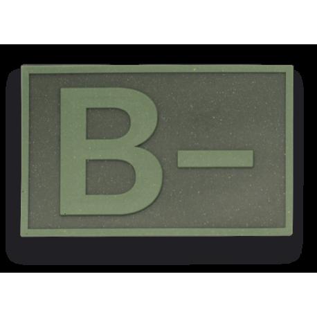 Parche goma ( B - ) Verde. (5.4 x 3.4cm)