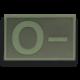 Parche goma ( 0 - ) Verde. (5.4 x3.4cm)
