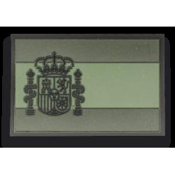 Parche goma ESPAÑA Verde. (5.4 x 3.4cm)