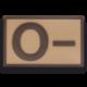 Parche goma ( 0 - ) Arido. (5.4 x 3.4cm)