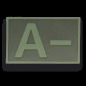 Parche goma ( A - ) Verde. (5.4x3.4cm)