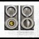 Llavero oval giratorio con chapa GEO