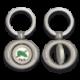 Llavero oval giratorio con chapa OES