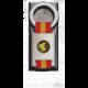 Llavero rectangulo plata + cinta bandera GEO