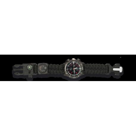 Reloj tactico Supervivencia Negro