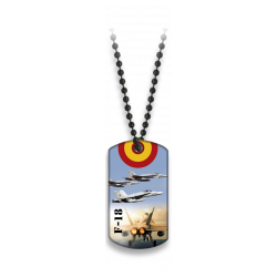 Placa con cadena de bolas F-18