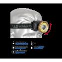Linterna para cabeza circular