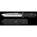 cuchillo K25 puño goma. titanium. h:20.8