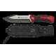 Cuchillo K25 con sierra rojo. Hoja: 14.5