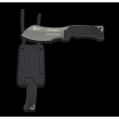 cuchillo k25 G10 KRAKEN. Kydex. H: 7.2cm